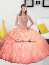 2015 Remarkable Beading and Ruffles Sweetheart Quinceanera Dresses QDDTD5002FOR