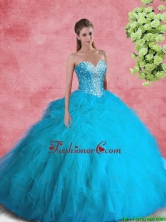 2016 Beautiful Ball Gown Sweetheart Beaded Sweet 16 Dresses SJQDDT104002FOR
