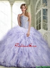 Beautiful 2015 Lavender Quinceanera Dresses with Ruffles and Beading SJQDDT63002-1FOR