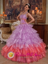 Cusco Peru For 2013 Graduation Lavender Halter Discount wholesale Quinceanera Dress With Organza Beading Style QDZY253FOR