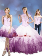 Lovely 2015 Multi Color Quinceanera Dresses with Beading and Ruffles SJQDDT7001FOR