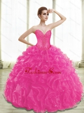 Lovely Fuchsia Quinceanera Dresses with Appliques and Ruffles SJQDDT28002-4FOR