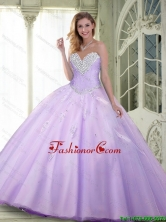 Luxurious 2015 Summer Beaded and Appliques Quinceanera Dresses in Lavender SJQDDT85002FOR