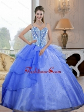Luxurious Spaghetti Straps 2015 Quinceanera Dresses with Beading QDDTA27002-2FOR