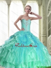 Perfect Lace Up Sweetheart Quinceanera Dresses with Beading for 2015 Fall SJQDDT55002FOR
