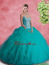Perfect Strapless Sweet 16 Dresses with Beading and Ruffles SJQDDT95002FOR