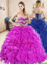Wonderful Big Puffy Quinceanera Dress with Beading and Ruffles YYPJ059FOR