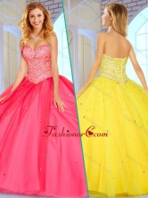 2016 Simple Sweetheart Ball Gown Sweet 16 Gowns with Beading SJQDDT380002FOR