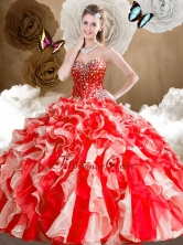2016 Simple Sweetheart Multi Color Quinceanera Dresses with Ruffles SJQDDT486002FOR