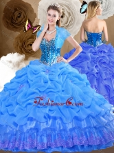 2016 Simple Sweetheart Quinceanera Dresses with Beading and Pick Ups SJQDDT481002FOR
