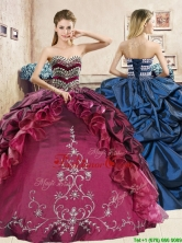 Classical Beaded and Embriodery Quinceanera Dress in Burgundy YYPJ039FOR
