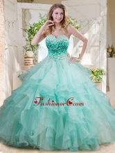 Elegant Floor Length Big Puffy Quinceanera Dress with Beading and Ruffles Layers SJQDDT703002FOR