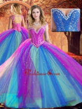 Fashionable V Neck Quinceanera Dresses with Beading SJQDDT508002FOR