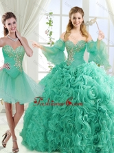 Feminine Beaded Detachable Sweet 16 Dresses in Rolling FlowerSJQDDT565002AFOR