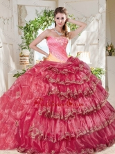 Gorgeous Beaded and Ruffled Big Puffy Sweet 16 Dress in Rainbow SJQDDT698002FOR