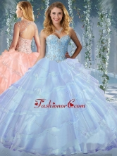 Luxurious Beaded and Ruffled Layers Sweet 16 Dress with Detachable StrapsSJQDDT597002FOR