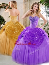 New Style Ball Gown Beading and Paillette Quinceanera Dresses for Fall QDDTH1002A-4FOR