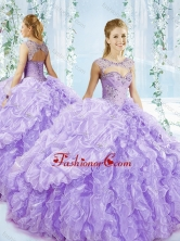 Puffy Skirt Bubble and Beaded Detachable Quinceanera Dress in Lavender SJQDDT549002FOR