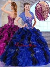 Simple Ball Gown Appliques and Ruffles Quinceanera Dresses for Fall  QDDTO2002-2FOR