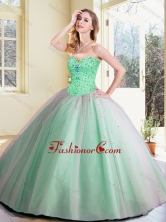 Simple Ball Gown Beading Quinceanera Dresses in Apple Green SJQDDT384002-1FOR