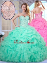 Simple Ball Gown Beading and Pick Ups Quinceanera Dresses SJQDDT374002-1FOR