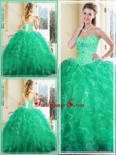 Simple Sweetheart Ball Gown Quinceanera Dresses with Ruffles SJQDDT385002FOR