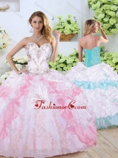 Simple Sweetheart Quinceanera Dresses with Beading and Pick Ups SJQDDT354002FOR