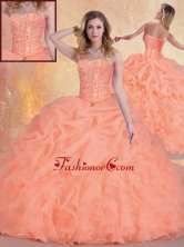 Simple Sweetheart Quinceanera Gowns with Ruffles and Pick Ups SJQDDT409002FOR