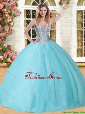 Visible Boning Beaded Bodice Tulle Sweet 16 Dress in Baby Blue YSQD005-1FOR