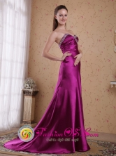 Formal Evening Dress with Sweetheart Beading Fuchsia Column Satin Pleat for 2013 in Oruro Bolivia Wholesale Style PDHXQ180133FOR