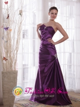 Purple Column Prom Dress Sweetheart Floor-length Taffeta beading Pleat for 2013 Fall IN Cotoca Bolivia Wholesale Style PDHXQ067FOR