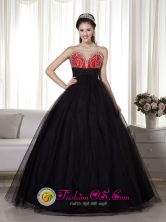 Red and Tull Black Princess Beaded Sweetheart 2013 Quinceanera Dress for Prom IN El Alto Bolivia Wholesale Style MLXN041FOR