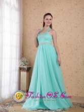 2013 Horsham VIC Wholesale Teal Dama Dresses Halter Top Beading Empire Floor-length Tulle for Honecoming Party Style PDHXQ073FOR
