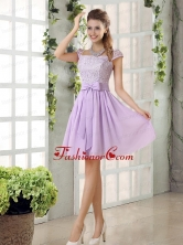 2015 Chiffon Dama Dress with Ruching Bowknot BMT010EFOR