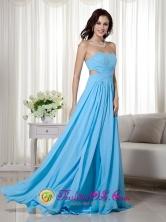 Armidale NSW Wholesale Aqua Blue Empire Sweetheart   Brush Train Chiffon Beading Sexy Prom Dress Half-open   back Style MLXNT002FOR