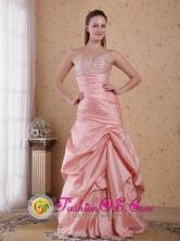 Bendigo VIC Wholesale Pink Taffeta Beading Column Sweetheart Floor-length and Ruch 2013 Dama Dresses Style PDHXQ038FOR