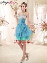 Discount Sweetheart Dama Dresses with Sequins and Hand Made Flowers BMT002E-4FOR