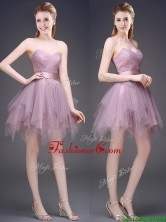 Hot Sale Lavender Short Dama Dress with Ruffles and Belt BMT0116-2FOR