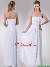 Latest Handcrafted Flower White Dama Dress with Spaghetti Straps THPD088FOR