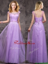 New Arrivals Beaded and Applique Long Dama Dress in Lavender BMT0165-2FOR