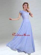 One Shoulder Belt Empire 2015 Appliques Dama Dress in Lavender BMT029EFOR
