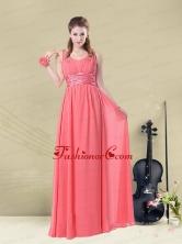 Super Hot Straps Floor Length Dama Dress with Belt BMT008EFOR