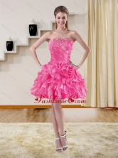 2015 Beautiful Beaded Strapless Dama Dresses with Ruffles XFNAO5822TZBFOR