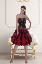 2015 Sweetheart Multi Color Dama dress with Ruffles and Beading XFNAO5800TZCFOR