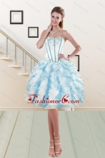 2015 Sweetheart Ruffled Dama Gown with Embroidery and Ruffles XFNAO056TZCFOR