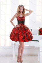 2015 Unique Sweetheart Beading and Ruffles Dama Dresses with Appliques XFNAOA32TZBFOR