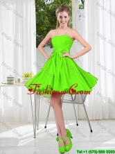 2016 Summer A Line Sweetheart Dama Dresses in Spring Green BMT001B-11FOR