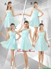 Beautiful A Line Ruched Dama Dresses in Light Blue BMT052FOR