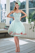 Beautiful Light Blue Sweetheart Short Dama Dresses with Beading XFNAOA02TZBFOR
