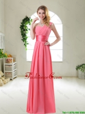 Cheap Watermelon Red Dama Dresses with One Shoulder BMT055CFOR